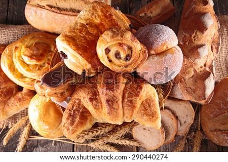 assortment of pastry - stock photo