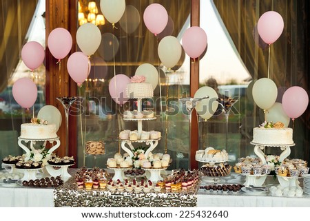 assortment of sweets. Cake pops - stock photo