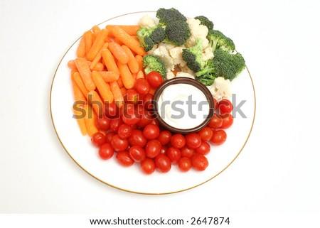 assortment of veggies on top - stock photo