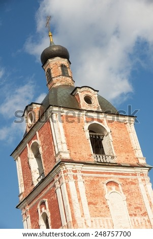 Assumption Cathedral  18th century, Museum-Preserve of Pereslavl-Zalessky (in Goritsky Monastery), Yaroslavl Oblast, Russia - stock photo