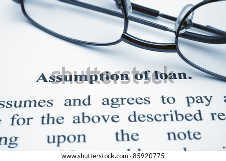 Assumption of loan - stock photo