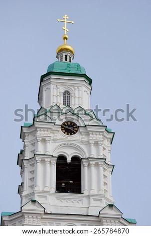 Assumption (Uspensky) cathedral. Kremlin in Astrakhan, Russia. Popular touristic landmark. - stock photo