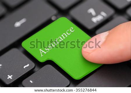assurance - stock photo