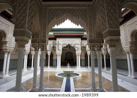 Astaka Morocco or Moroccan Pavilion or Islamic Garden Pavilion, 2006. - stock photo