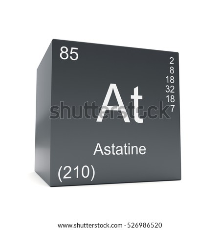 Astatine chemical element symbol periodic table stock illustration astatine chemical element symbol from the periodic table displayed on black cube 3d render urtaz Gallery
