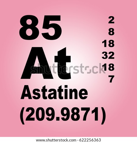 Astatine periodic table elements stock illustration 622256363 astatine periodic table of elements urtaz Gallery