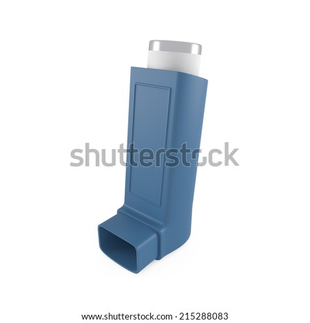 Asthma inhaler isolated on white - 3d illustration