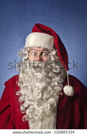 Astonished Santa Claus - stock photo