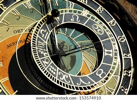 Astrological clock in Prague ,Czech Republic. - stock photo
