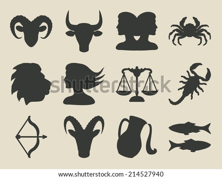 astrological signs set -  illustration