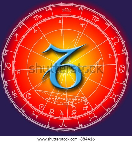 astrological symbol of sign capricorn