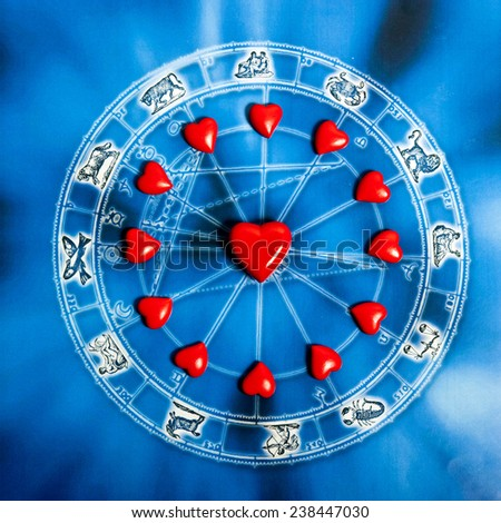 astrology and love concept - stock photo