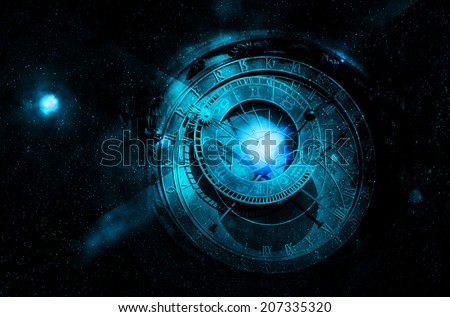 astrology night sky - stock photo