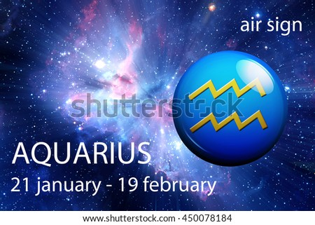astrology sign of Aquarius - stock photo