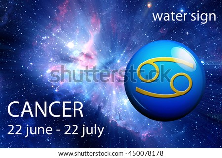 astrology sign of Cancer - stock photo