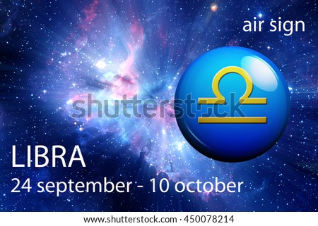 astrology sign of Libra - stock photo
