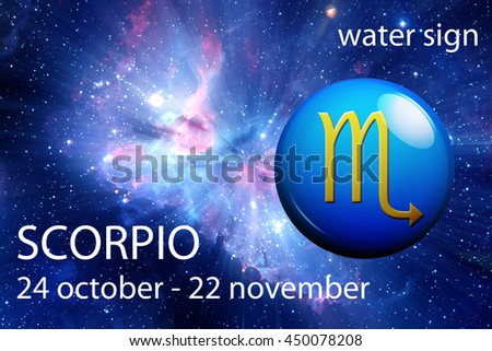 astrology sign of Scorpio - stock photo