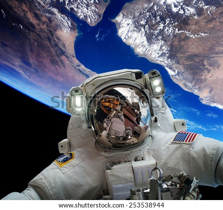an astronaut in a spaceship see the outer space as - photo #15