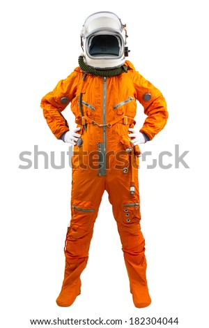 Astronaut isolated on a white background - stock photo