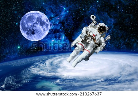 astronaut in outer space observe sky as - photo #48