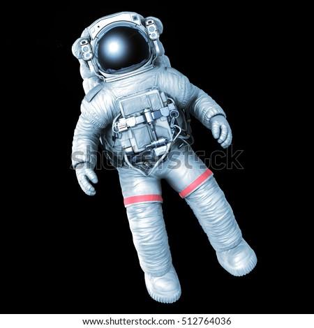 Astronaut On Black Background 3d Rendering Stock ...