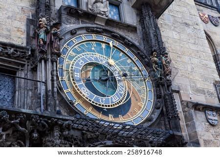 Astronimical clock in Prague, Czech Republic - stock photo