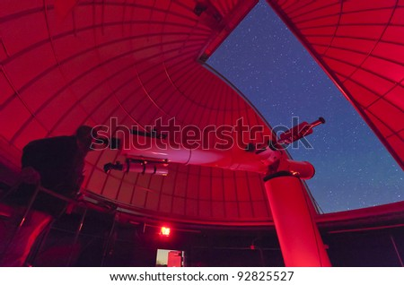 Astronomer at the 15 inch Refractor Telescope