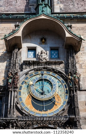 Astronomical Clock in Prague, Czech Republic - stock photo