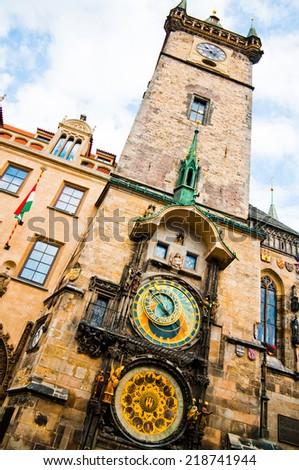 Astronomical Clock Prague Czech Republic  - stock photo