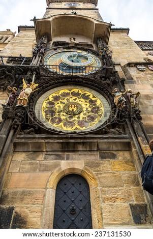 Astronomical Clock. Prague. Czech Republic - stock photo