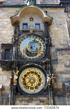 Astronomical Clock Prague Czech Republic - stock photo