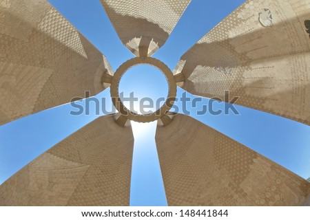 ASWAN, EGYPT - JUN 28 : The Egyptian-Russian Friendship Monument commemorates the joint effort in the building of the Aswan High Dam across the Nile River, June 28, 2011 in Aswan, Egypt. - stock photo