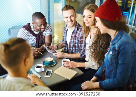At cafe - stock photo