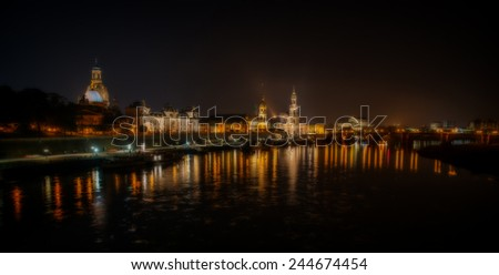 At night in dresden