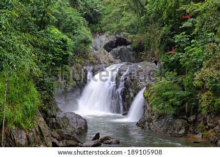 At the Crystal Cascades near Cairns, Queensland, Australia - stock photo