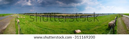 At the dike - stock photo