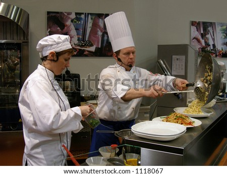 At the food fair - stock photo
