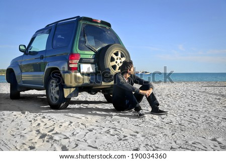 at the seaside - stock photo