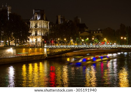At the Seine at night