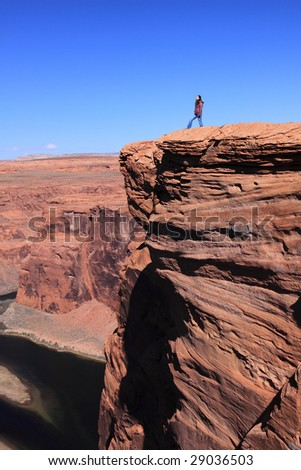At the top of the world - stock photo
