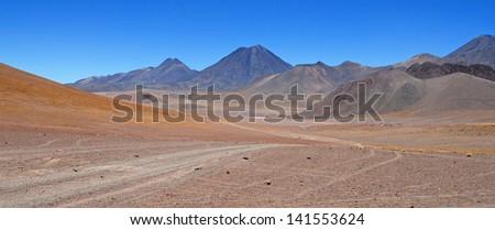 Atacama Desert / Altiplano, Chilean-Bolivian Border - stock photo