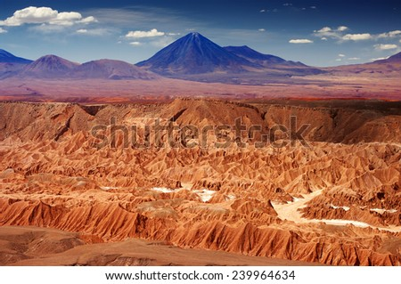 Atacama desert, Andes, Chile - stock photo