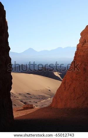 atacama desert in early morning - stock photo