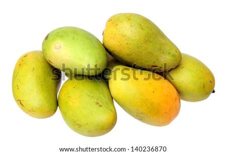 ataulfo mango  isolated on white - stock photo