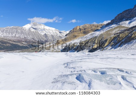 Athabasca Glacier at Columbia Icefield, Japser National Park, Alberta, Canada