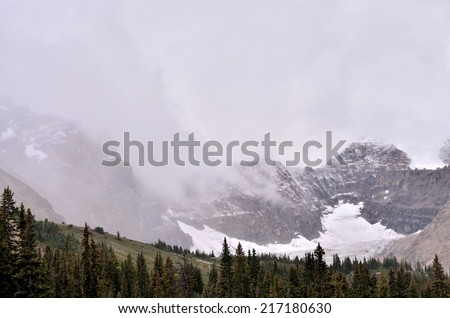 Athabasca Glacier, Icefield Parkway, Jasper National Park, Alberta, Canada - stock photo