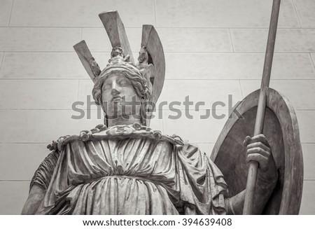 Athena Greek goddess of wisdom and science - stock photo