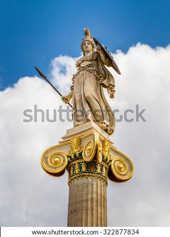 Athena statue from the Academy of Athens ,Greece