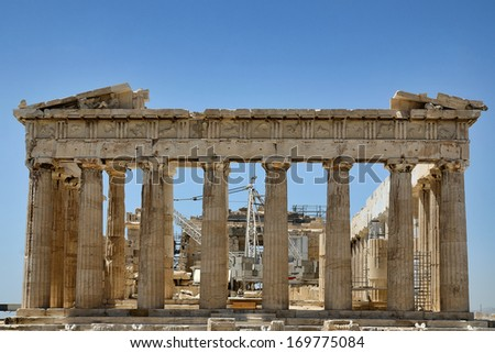 the construction of the parthenon comparative The parthenon was the first building to be completed in pericles' building program, by using the order of doric, they were trying to portray a sense of rationality in the chaos which could be seen as the burnt down and destroyed acropolis during the persian war.