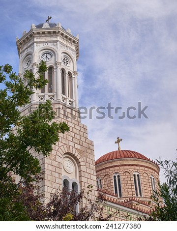 Athens, Greece, Panaghia Chrysospiliotisa old church in Aeolou street